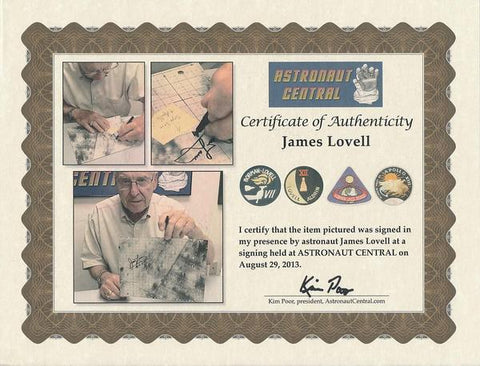 APOLLO 13 LM-FLOWN LUNAR SURFACE MAP SIGNED BY JIM LOVELL