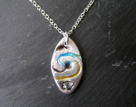 Enamelled spiral galaxy meteorite pendant the space store enamelled spiral galaxy meteorite pendant aloadofball Image collections