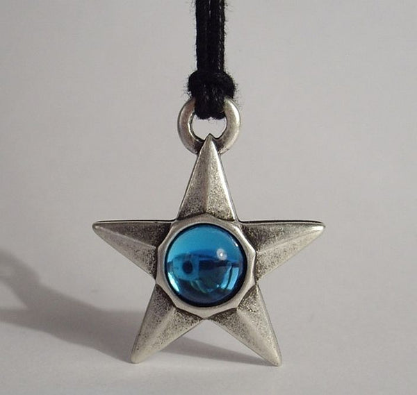 STAR PENDANT - Blue Crystal - The Space Store