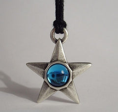 STAR PENDANT - Blue Crystal
