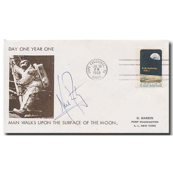 NEIL ARMSTRONG SIGNED MOONLANDING COVER - The Space Store