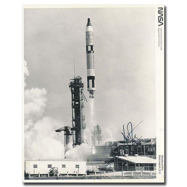 NEIL ARMSTRONG SIGNED GT-8 LIFTOFF 8X10