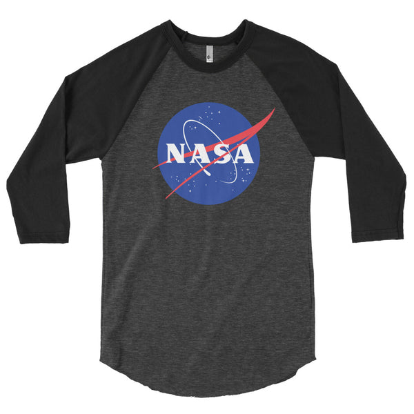 NASA 'MEATBALL'  3/4 Sleeve Raglan Shirt