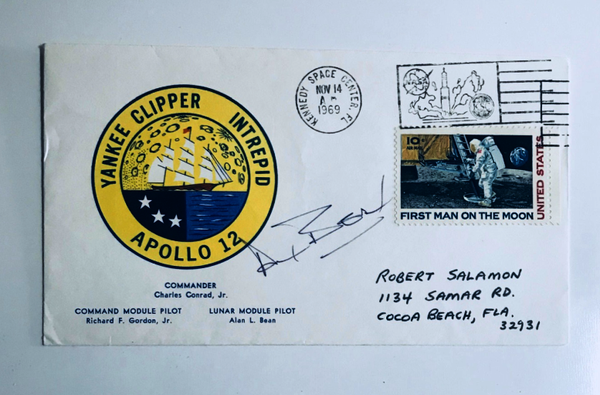 ALAN BEAN AUTOGRAPHED APOLLO 12 COVER - The Space Store