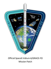 SPACEX IRIDIUM 6 MISSION PATCH