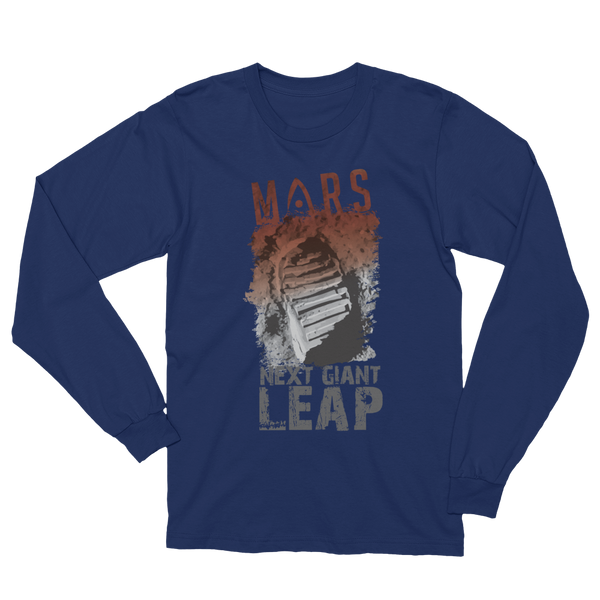 MARS - 'NEXT' GIANT LEAP'  in Adult Long Sleeve - The Space Store