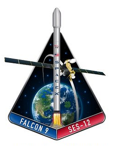SPACEX SES 12 MISSION PATCH - The Space Store