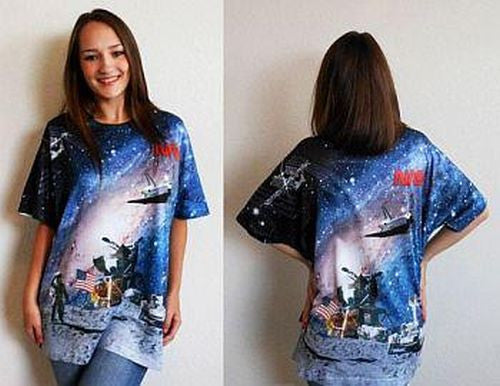 "NASA ""Space Programs Shirt"" in Full Color (2 sided design) - Adult"
