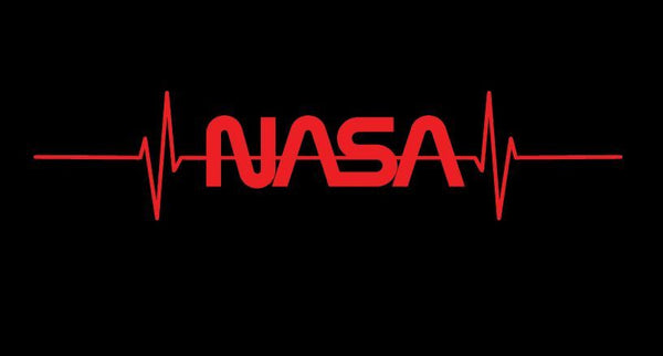 NASA 'PULSE' HOODIE in Black or Navy