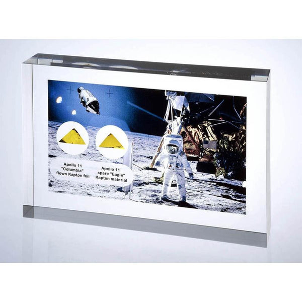 Apollo 11 Command Module Flown and Lunar Module Artifact Acrylic - The Space Store