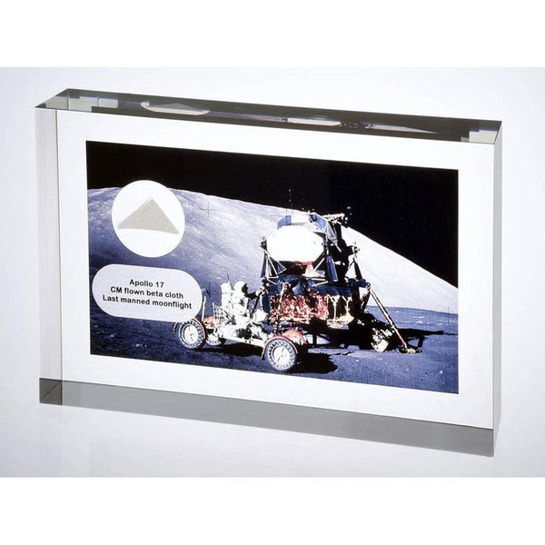 Apollo 17 lunar FLOWN Beta Cloth Acrylic