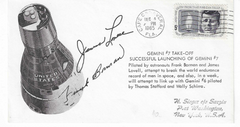 Gemini 7 Take-off Autopen Signed Cover