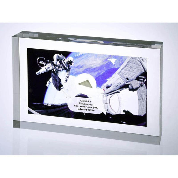 Gemini 4 FLOWN Silver Metal Acrylic - The Space Store