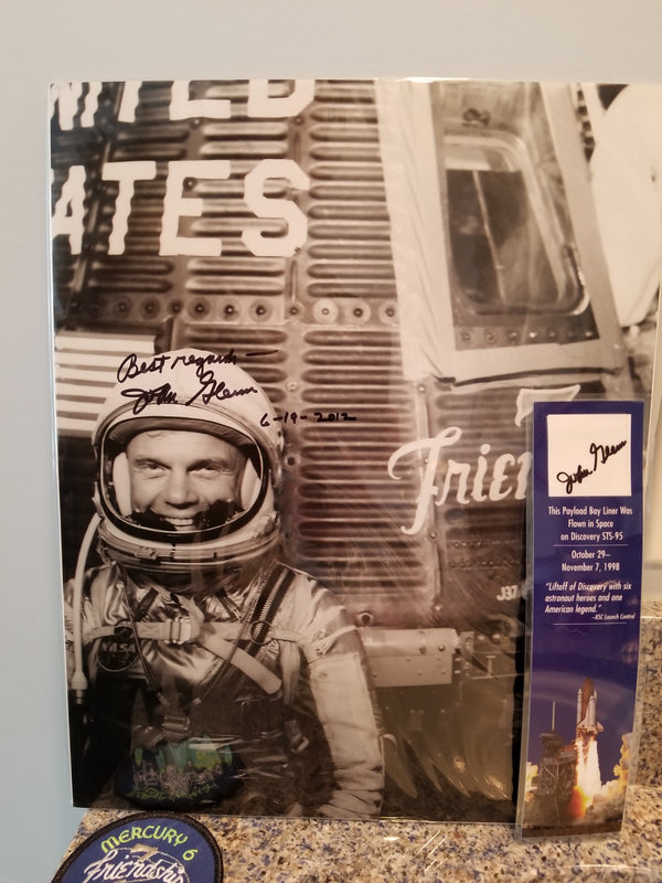 John Glenn Autographed Photo and STS-95 Collectible