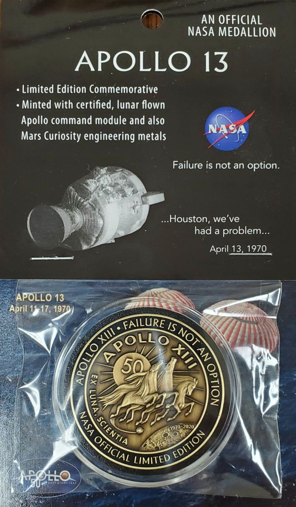 APOLLO XIII  FAILURE IS NOT AN OPTION MEDALLION