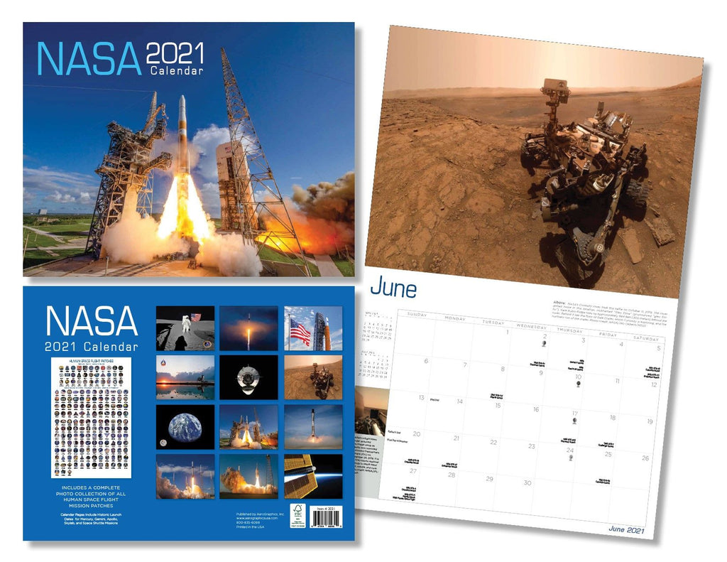 Shop NASA 2021 Calendar Online from The Space Store