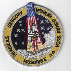 STS-44 Mission Patch signed by Story Musgrave