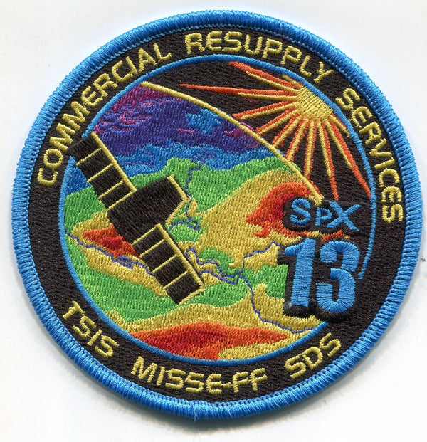 SPACEX CRS-13 SPX MISSION PATCH - The Space Store