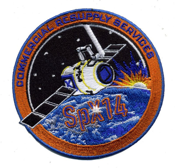 SPACEX CRS 14 SPX Mission Patch - The Space Store