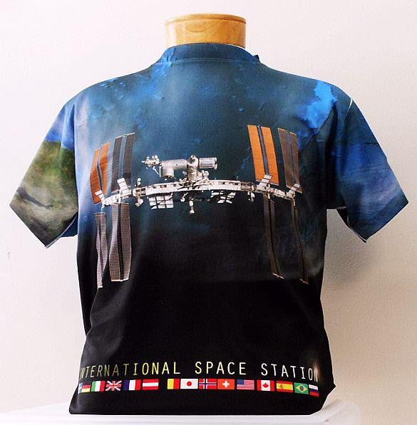 International Space Station 2-sided, Full Color Shirt