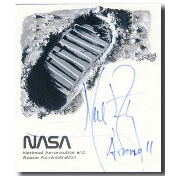 NEIL ARMSTRONG SIGNATURE + HANDDRAWN CACHET