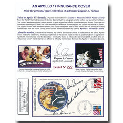 APOLLO 17 OFFICIAL INSURANCE COVER - EX-GENE CERNAN