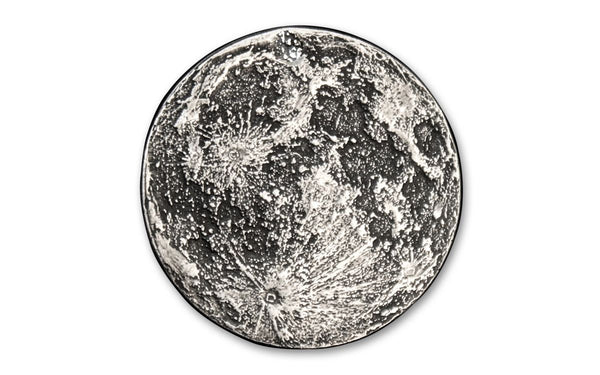 1/4-oz Silver Full Moon Antiqued Medal Gem BU