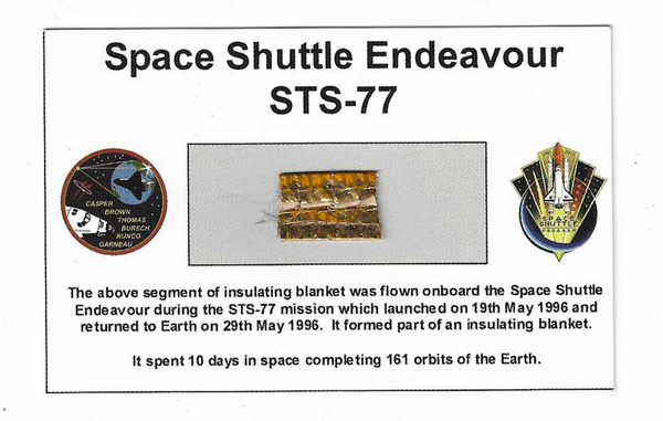 Space Shuttle Endeavour STS-77 Card