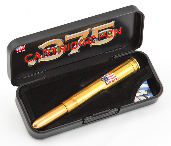 375 H & H Mag Shell Fisher Space Pen w/ American Flag - The Space Store
