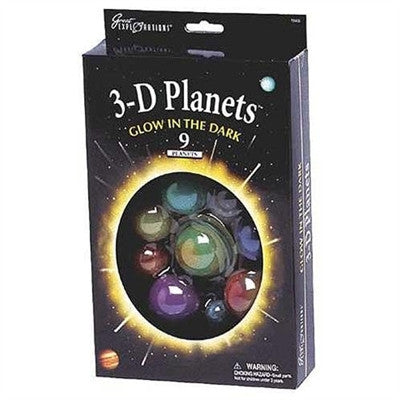 3-D PLANETS Glow In The Dark Set