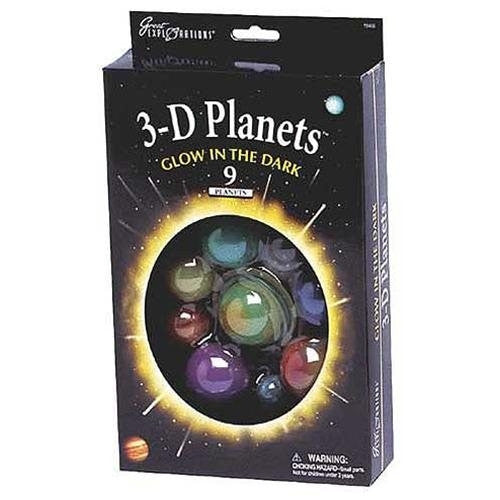 3-D PLANETS Glow In The Dark Set - The Space Store