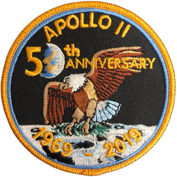 "Apollo 11 50th Anniversary Patch 3.5"" - The Space Store"