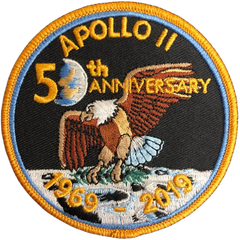 Apollo 11 50th Anniversary Patch 3.5""