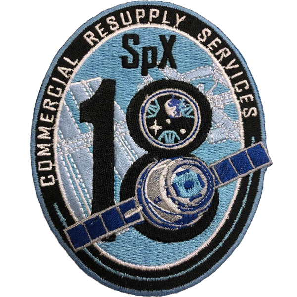 CRS SpaceX 18 Mission Patch - The Space Store