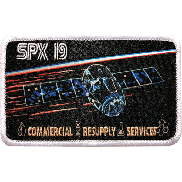 CRS SpaceX 19 Mission Patch - The Space Store