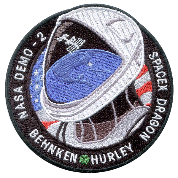 DEMO-2 First Crewed Flight SPACEX DM-2 NASA SPACE PATCH AB EMBLEM