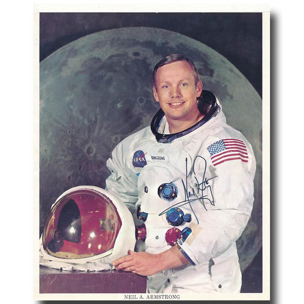 NEIL ARMSTRONG SIGNED 8X10 NASA WSS