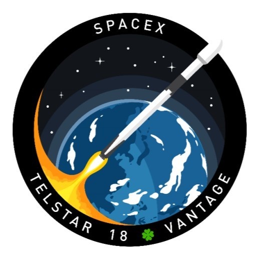 SPACEX TELSTAR 18 VANTAGE MISSION PATCH