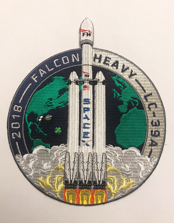 SPACEX FALCON HEAVY LAUNCH PATCH
