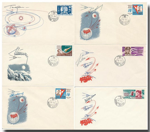 Vostok 1-6 KNIGA signed covers - The Space Store