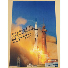 WALT CUNNINGHAM SIGNED & ANNOTATED APOLLO 7 LAUNCH