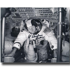 ALFRED WORDEN SIGNED APOLLO 15 8X10 GLOSSY