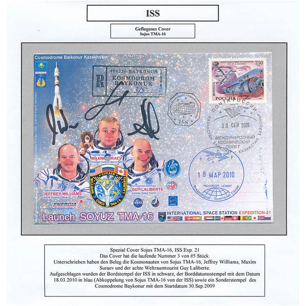 SOYUZ TMA-16 EXP. 31 FUNNY FLOWN ISS COVER