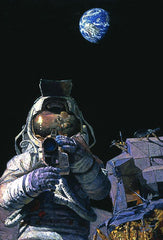 'MOON ROVERS' Limited Edition Print by Apollo 12 Astronaut Alan Bean