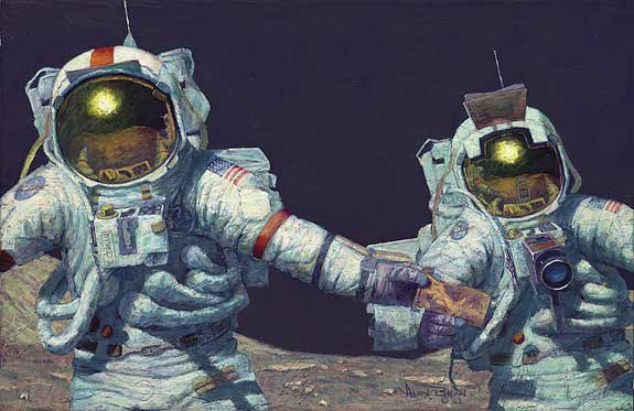 RIGHT STUFF FIELD GEOLOGISTS - Limited Edition Print by Alan Bean