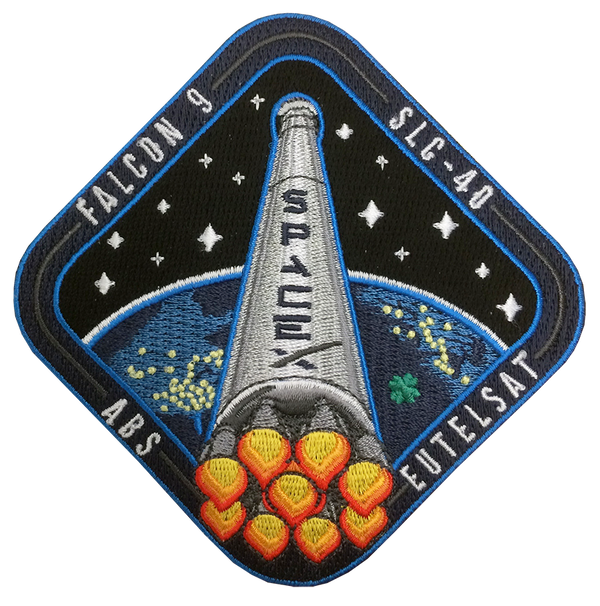 SPACEX EUTELSAT ABS / SLC-40 PATCH - The Space Store