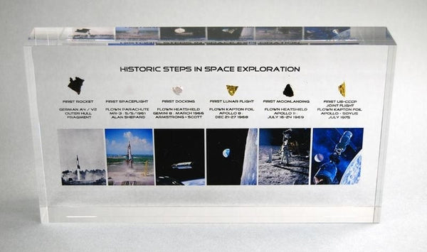 """Historic steps in Space Exploration"" - 6 Artifacts in Acrylic"