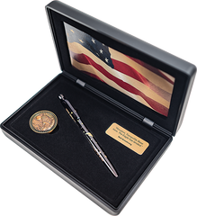 AG7-50LE – APOLLO 11 LIMITED EDITION 50TH ANNIVERSARY ASTRONAUT PEN & COIN SET WITH SPACE FLOWN MATERIAL