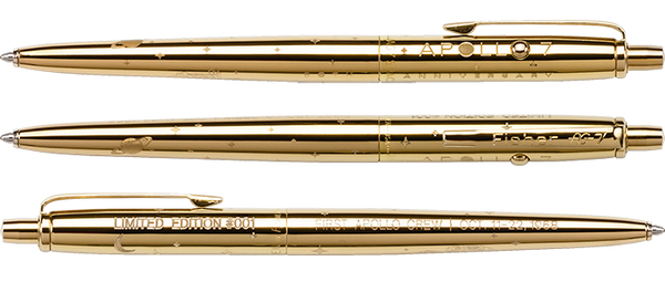 LIMITED EDITION APOLLO 7 50TH ANNIVERSARY GOLD TITANIUM ASTRONAUT SPACE PEN & COIN SET