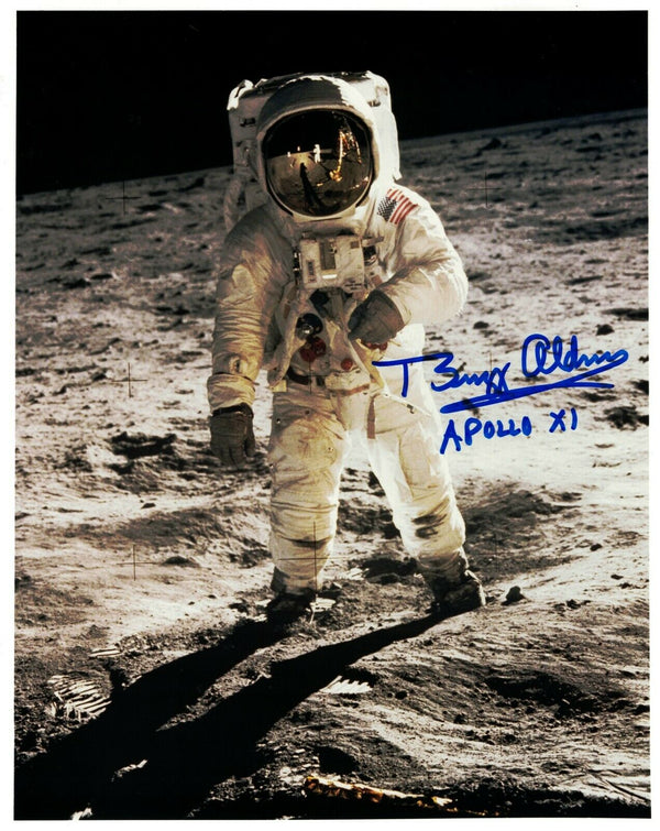 Buzz Aldrin Signed Photo 'Visor'  Buzz Aldrin Apollo XI - The Space Store